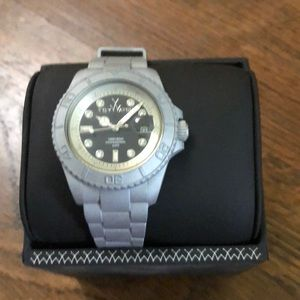 Toywatch new gray watch with box and tags